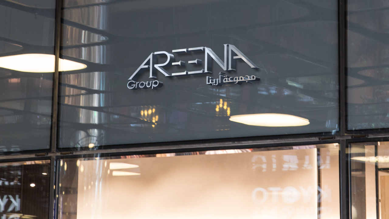 Areena Group Logo design