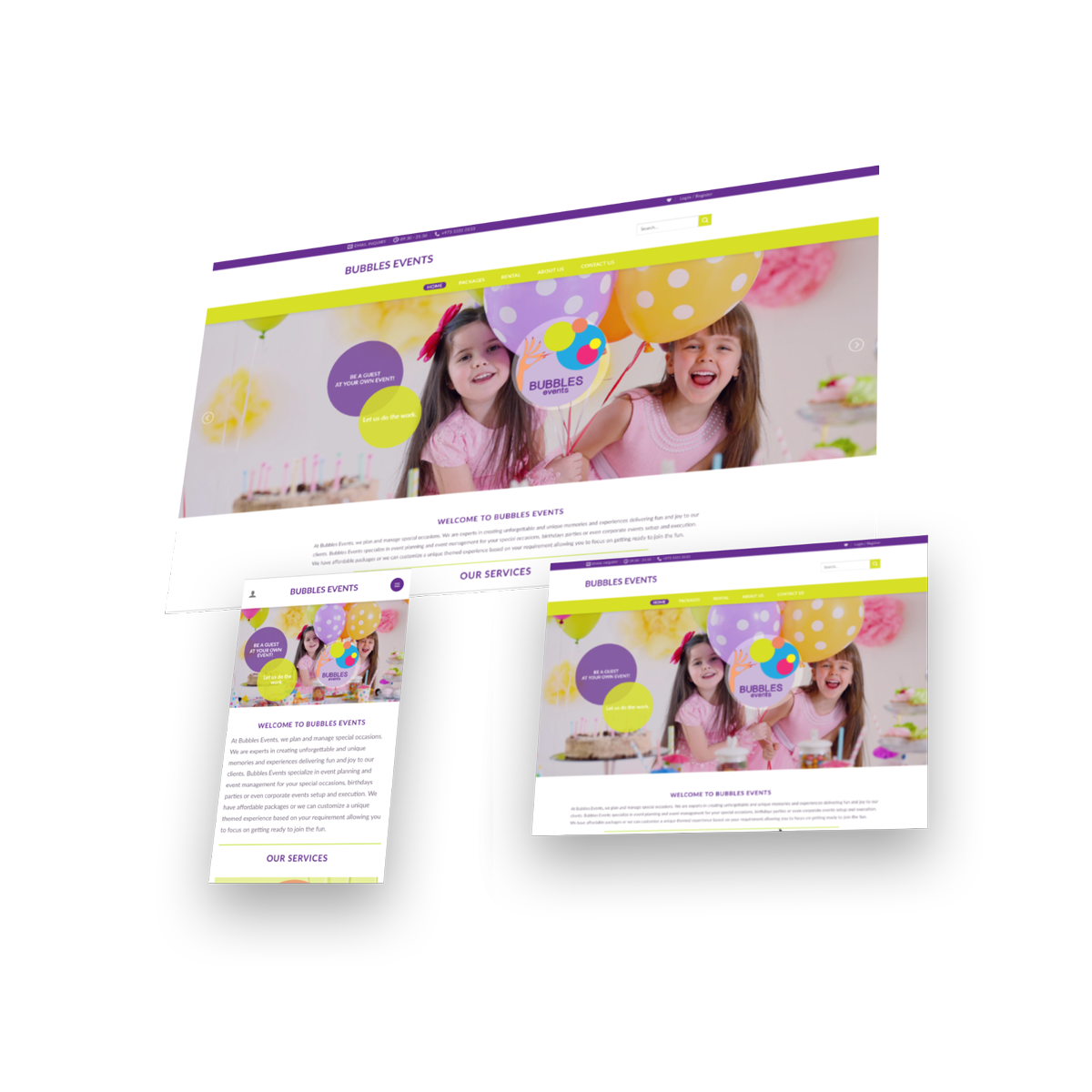 Events website solutions